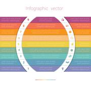 Colorful Strips and White Semicircles for Text 9 Stock Illustration