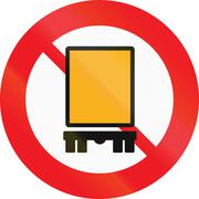Road sign used in Denmark - No vehicles carrying dangerous goods Stock Illustration