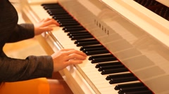 Musician with Piano Stock Footage