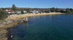 Camp Cove Beach, Watsons Bay, Sydney in 4k Stock Footage