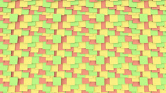 Colorful sticky notes on the board. Office work or reminder concepts. 4K Stock Footage