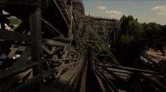 Roller coaster old school horror ride Stock Footage