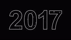 Festive inscription 2017 Stock Footage