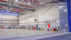 Empty hangar at the airport, Vaclav Havel Prague Stock Footage