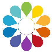 Arrows arranged in circle 10 Stock Illustration