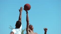 Super slow motion shot of basketball tip off, shot on Phantom Flex 4K Stock Footage