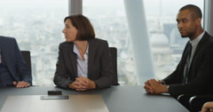 4k, shot of a group of business colleagues meeting in the boardroom. Slow motion Arkistovideo