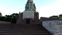 Freedom Monument is memorial in Riga, Latvia Stock Footage