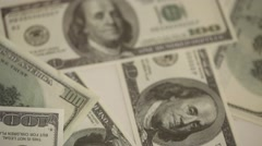 American Currency Dollars Stock Footage