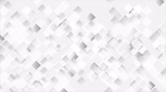 Abstract light grey moving squares animated background Stock Footage