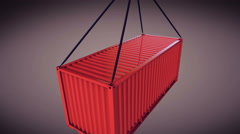 3d rendering of a shipping container Stock Footage