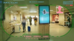 Station  - Technology - digital interface - graphics - colors - HD Stock Footage