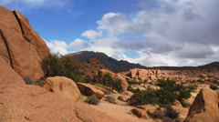 Timelapse at the Painted Rocks Valley in Morocco Stock Footage