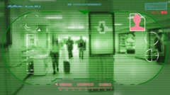Station  - Technology - digital interface - graphics - green - HD Stock Footage