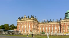 New Palace of Sanssouci park in Potsdam, Germany Stock Footage