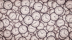 3D Clock face animation. Stock Footage