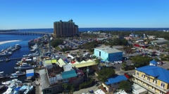 Aerial view of Destin skyline, Florida Stock Footage