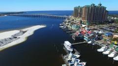 Destin skyline, Florida aerial view Stock Footage
