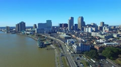 Aerial view of New Orleans Arkistovideo