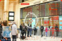 Waiting Line -  radar - scanning - detecting clues - colors Stock Footage