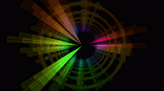 Circle Colored Audio Spectrum Equalizer Background Stock Footage