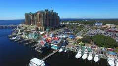 Aerial view of Destin skyline, Florida Stock Footage
