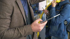 Modern Day Commute with Gadgets Stock Footage
