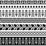 Ancient Greek pattern - seamless set of antique borders from Greece Piirros