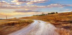 Country road at sunset, Stock Photos