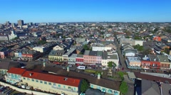 New Orleans homes and buildings, aerial city view Stock Footage