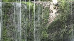 Waterfall on Jedlova creek in Jizera mountains Stock Footage