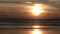 Peaceful Ocean Scene Near Sunset Stock Footage