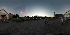 360Vr Video People at Kites Festival Leba Kids Parents at the City Square Are Stock Footage