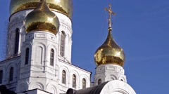 Khanty-Mansiysk. Church of the Resurrection Stock Footage