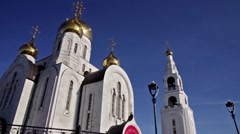 Khanty-Mansiysk. Church of the Resurrection. Long shot. Stock Footage