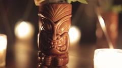 Tiki Cocktail Stock Footage