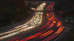 Time lapse of evening traffic. Don Valley Parkway, Toronto, Canada. Stock Footage