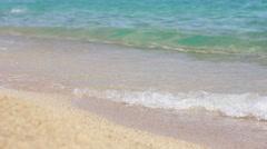 Sand beach summer season Stock Footage