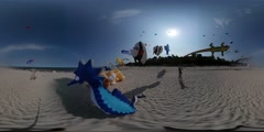 360Vr Video Multiply Shapes Kites Sea Horse Fish Crocodile Shapes Kites Are Stock Footage