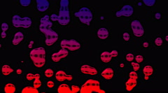 4k Liquid Drop Abstract Animation Background Seamless Loop. Stock Footage