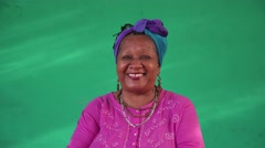 1 Real People Portrait Old Black Woman Smiling At Camera Stock Footage