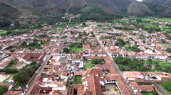 Villa de Leyva Aerial View Stock Footage