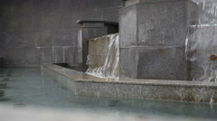 Fountain in the discharge water Stock Footage