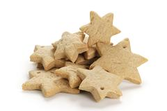 Star shaped christmas cookies isolated Stock Photos