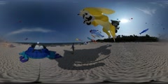 360Vr Video Multiply Shapes Kites Dog Crab Fish Cat Shapes Kites Are Waving Stock Footage
