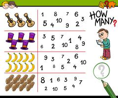 Educational counting activity for kids Stock Illustration