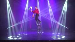 Circus acrobat show Stock Footage