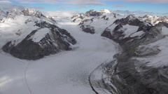 Carrol Glacier In Alaska Flowing Rivers Of Ice Aerial Stock Footage