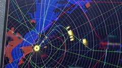 Air Traffic Control Radar Stock Footage