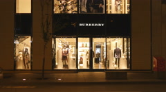 Burberry boutique on Bloor Street, Toronto, Canada. Stock Footage